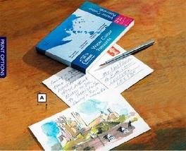 Winsor & Newton Cotman vatnslitablokk postkort